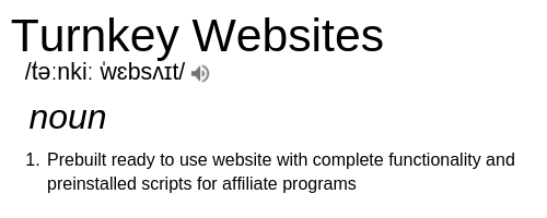 What is A Turnkey Website