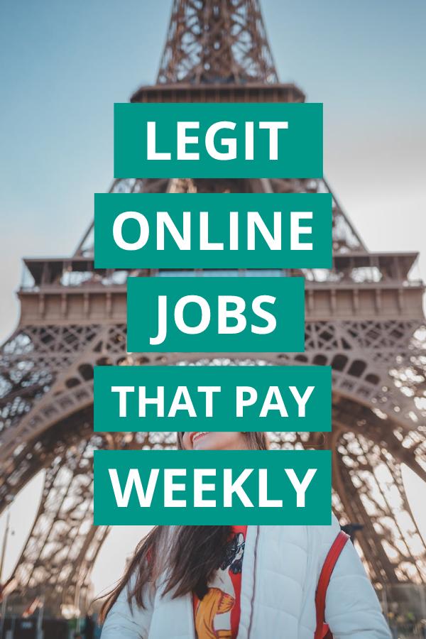 Legit Online Jobs that Pay Weekly Via PayPal