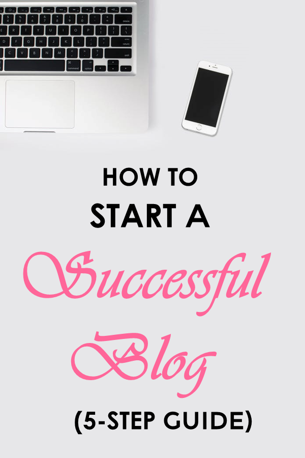 How To Start A Successful Blog in 5 Simple Steps