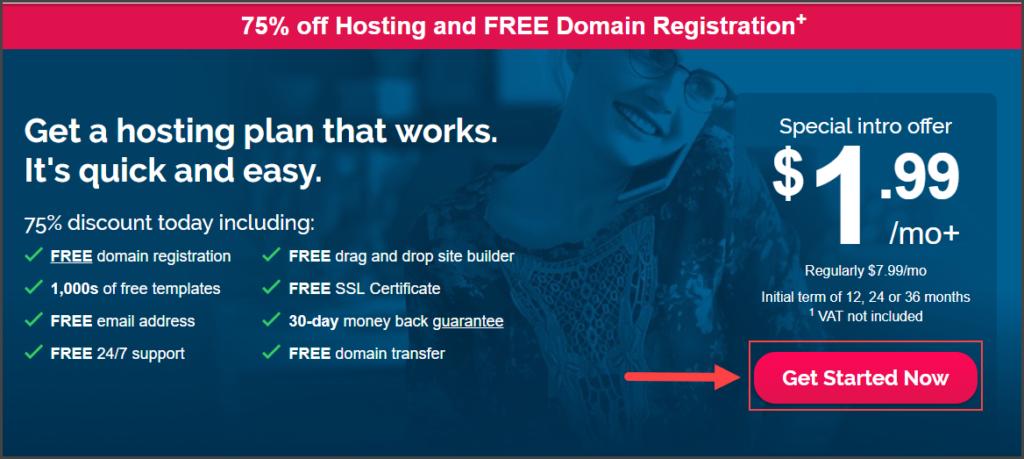 iPage Hosting Homepage