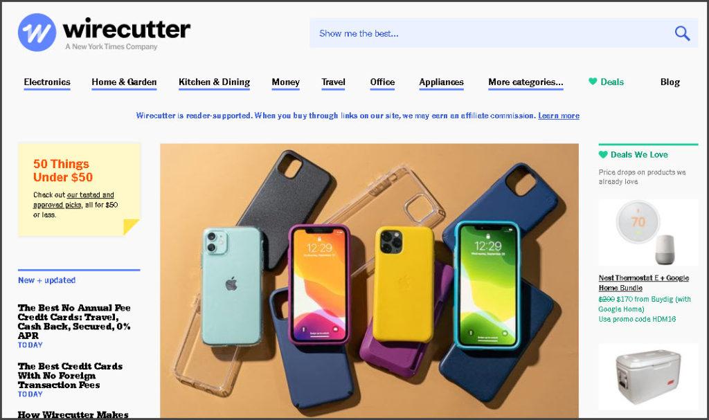 TheWireCutter - Amazon affiliate Website #1